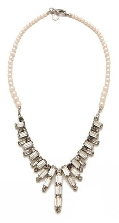 Tom Binns White Regal Rocker Bib Necklace