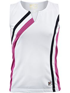 Fila Girl's Heritage Sleeveless Tank.  #tennis