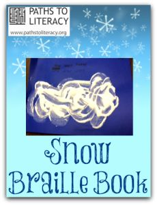 """Here's an easy way to make """"snow"""" to use in a tactile book for children with visual impairments."""