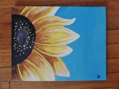 Original sunflower painting #etsy #sunflower #painting