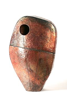 Ceramics by Shaun Hall at Studiopottery.co.uk - Large Magma sculpture (special reduced price for studiopottery) h approx 70 cm x 40 cm w.