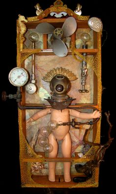 2013, Mixed media assemblage. Submersion by DianneHoffman on DeviantArt