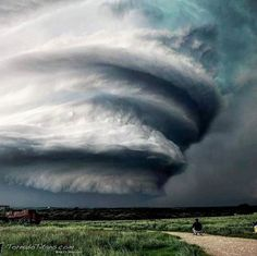 """A supercell with absolutely insane structure roams near Stephenville, TX on 4/26/15. This Storm produced 5in hail and few a tornadoes."""" 