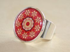 Silver Mandala Ring RS 101  Pick your Design by admirable on Etsy, $15.00