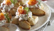 Finnish Recipes, Antipasto, Soul Food, Food Inspiration, Baked Potato, Baking Recipes, Food And Drink, Vegetarian, Snacks