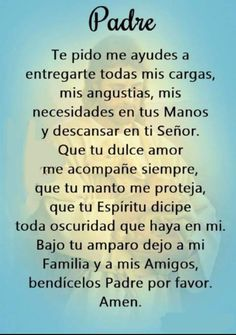 Prayer Verses, Bible Prayers, God Prayer, Prayer Quotes, Faith Quotes, Bible Quotes, Rosary Prayer, Spanish Inspirational Quotes, Inspirational Prayers