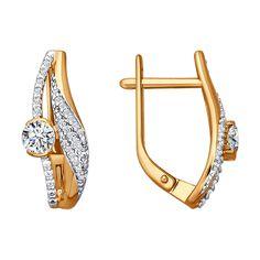 Rose Gold Swarovski Zirconia Earrings