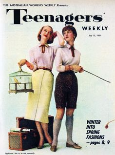 Winter into spring fashions, Teenager' Weekly, July 1959.* I wish they had this magazine when I was a teen and trying to figure out how to replicate that 50's look I loved so!*