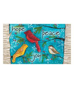 Look what I found on #zulily! Peace Birds Doormat #zulilyfinds