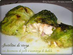 Cabbage rolls with chicken nuggets and buffalo scamorza - Involtini di verza con bocconcini di pollo e scamorza di bufala