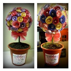 My Mothers Day topiary gift for my mum and mother in law!  diy_crafts