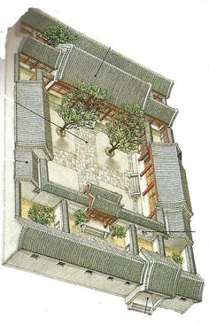 Chinese house Family compound For the Home Pinterest House