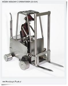 Model Wózka widłowego Polskie rękodzieło