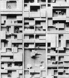 loveyousomat:    Candilis, Josic, Woods, Schiedhelm. Berlin Free University, 1963. Scale model of competition (detail).