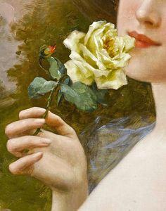 My Model (detail), Emile Vernon, 1900s. Oil on canvas.