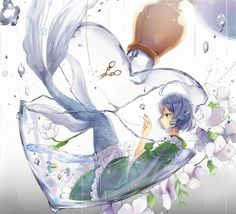 Fl my account ( Hạnh Lee 🌻)to see more best pic about Anime 🎏🎐🎎 Anime Chibi, Kawaii Anime, Manga Anime, Manga Girl, Anime Girls, Reference Manga, Anime Mermaid, Girl In Water, Mermaids And Mermen