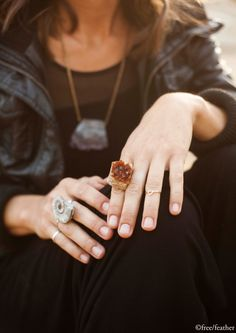 Citrine Cluster Ring by FreeFeatha on etsy