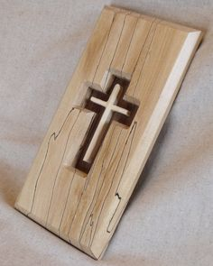 Wooden Christian Cross Wall Hanging by MythicWood on Etsy, $45.00