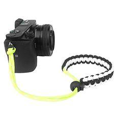 FoRapid Braided 550 Paracord Adjustable Camera Wrist Strap  Bracelet for Mirrorless Compact System DSLR Cameras Binoculars BlackWhiteYellow >>> Visit the image link more details.
