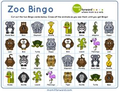 Adorable Zoo Bingo free printable to help your family play, get active, and get outdoors in the winter months.