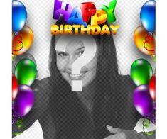 tarjeta cumpleanos borde globos colores texto happy birthday letras colores Happy Birthday Pictures, Happy Birthday Messages, Birthday Wishes, Happy Birthday Ballons, Sony, Board, Cute Love, Alphabet, Happy Birthday Photos