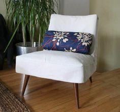 white mod chair slipcover