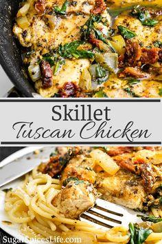 Italian Recipes, New Recipes, Cooking Recipes, Healthy Recipes, Healthy Menu, Delicious Chicken Recipes, Frugal Recipes, Best Dinner Recipes, Supper Recipes