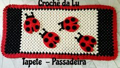 Tapete - Passadeira em crochê - Joaninha