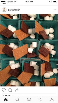 Smores to go Candy Party Favors, Candy Gifts, Lets Celebrate, Graham Crackers, Marshmallow, Sugar Cookies, Gingerbread Cookies, Sweet Treats, Sweets