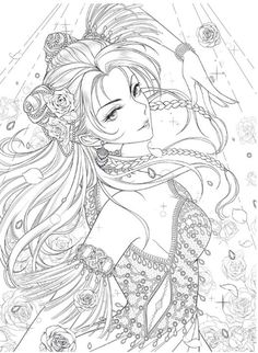 NEW Masquerade Coloring Book Custome play Chinese coloring Adult Coloring Book Pages, Cute Coloring Pages, Coloring Books, Manga Coloring Book, Sailor Moon Coloring Pages, Anime Lineart, Black And White Drawing, Anime Art, Art Drawings