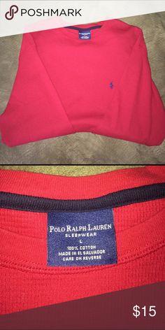 Polo Ralph Lauren Long Sleeve Polo Sleepwear. Red. Size large. Pre worn. Like new. Polo by Ralph Lauren Shirts Tees - Long Sleeve
