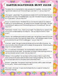 Easter Scavenger Hunt Clues - free printable #Easter