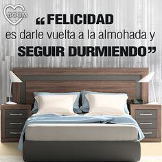 """""""Felicidad es darle vuelta a la almohada y seguir durmiendo"""" XD #home #quotes #felizmartes"""