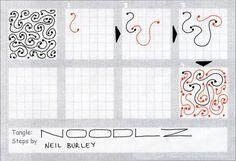 Noodlz - tangle pattern