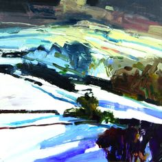 South Downs in Winter Print by Peter Iden