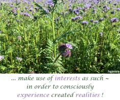 ... make use of #interests as such ~ in order to consciously #experience created #realities ! ( #Samara )