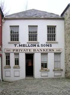 T Mellon & Sons, Ulster American Folk Park, Omagh, Co Tyrone, Northern Ireland. Part of the early American side of the park.