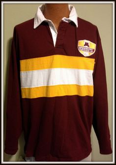 VINTAGE MINNESOTA GOPHERS LONG SLEEVE PRO PLAYER EMBROIDERED POLO SHIRT #PROPLAYER #MinnesotaGoldenGophers