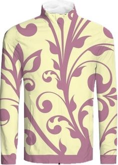 Elegant Flower swirls #yellow #violet from @circusvalley and Print All Over Me