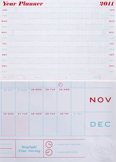 #calendar, Crispin Finn 2011 Year Planner