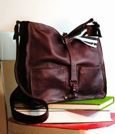 tom tom tote in soft chocolate, or eggplant, or elephant... $220