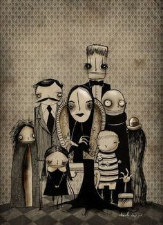 The Addams Family by Chavetta Lepipe, via Flickr