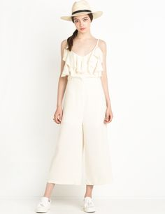ruffled jumpsuit #fashion #pixiemarket