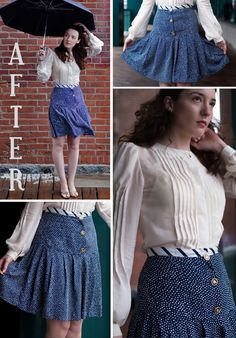 This blogger takes ugly thrift store dresses and remakes them into awesome outfits! (Otherwise known as refashions. Lindsey Haley and. Need to do thus to some if the dresses we find)