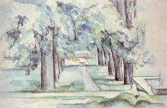 Pool and Lane of Chestnut Trees at Jas de Bouffan, 1880 - Paul Cezanne