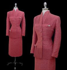 RESERVED  RESERVED  RESERVED  RESERVED  RESERVED    This stunning and rare 1950s Lilli Ann suit is cut from the finest silk and mohair fabric