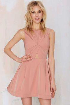 Love the Nasty Gal Knot in Love Cutout Dress on Wantering.