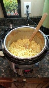 my first attempt at mac-n-cheese in the IP