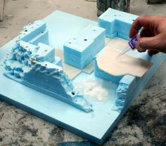 "Let's continue with the second article about ""how to work with high-density polystyrene"". We will illustrate how to prepare a complex and realistic terrain. When the various layers of polystyrene a..."