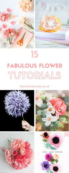 The Flower Tutoriasl Directory! Papercrafts are fabulous and who doesn't love a Paper Flower as a home decor DIY idea?! They would look amazing all over the walls.